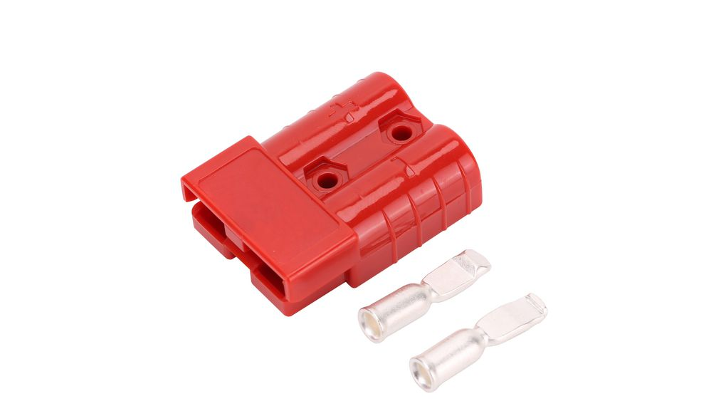 Buy 2 Pole Battery Connector Kit, Red, 16mm2, 50A