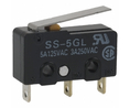 Buy Micro switch 3 AAC / 4 ADC Flat lever Snap-action switch 1 change-over (CO)