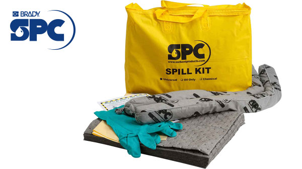 Portable spill kit - everything you need in one bag